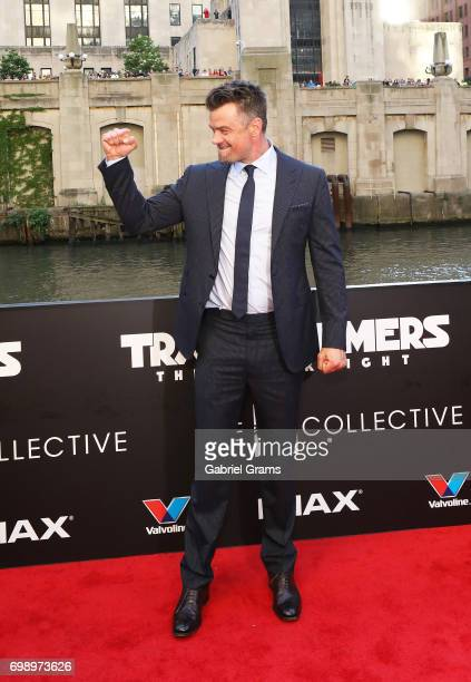 Josh Duhamel arrives for the premiere of 'Transformers The Last Knight' at Civic Opera Building on June 20 2017 in Chicago Illinois