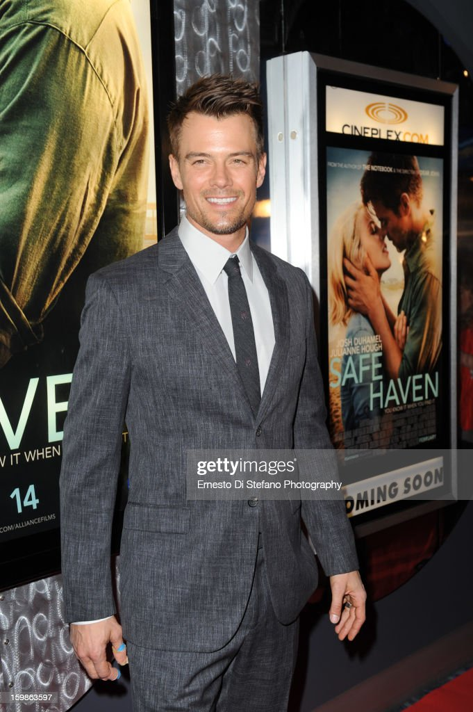 Josh Duhamel attends 'Safe Haven' Canadian premiere at Scotiabank Theatre on January 21, 2013 in Toronto, Canada.