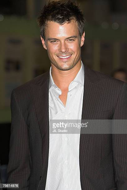 Josh Duhamel attends the Japanese premiere of the action film 'Transformers' at Tokyo Big Sight East on July 24 2007 in Tokyo Japan