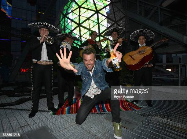 Josh Duhamel kicks off Cinco de Mayo with Corona #LIMEDROP at Times Square on May 4 2017 in New York City