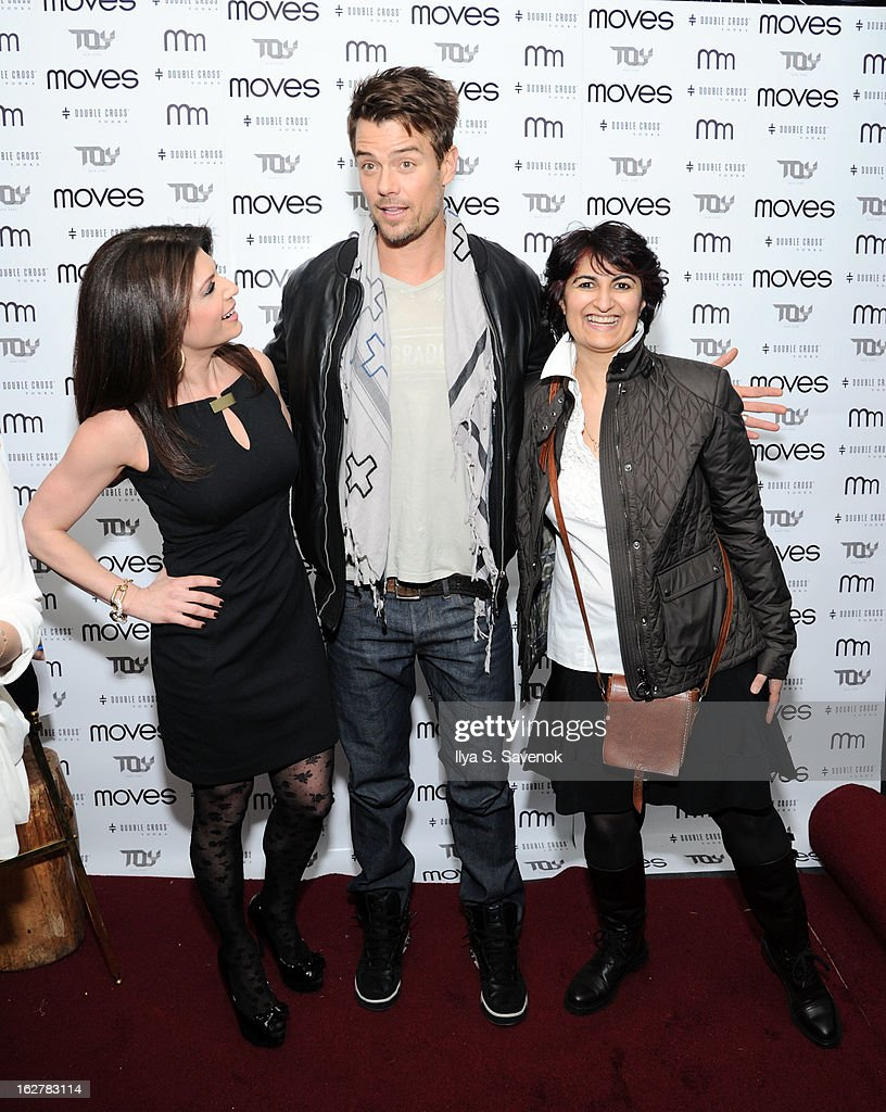 Josh Duhamel, Moonah Ellison and Tamsen Fadal attend the Moves' 2013 Spring Fashion Issue Mens Cover Party at TOY at Gansevoort Hotel on February 26, 2013 in New York City.
