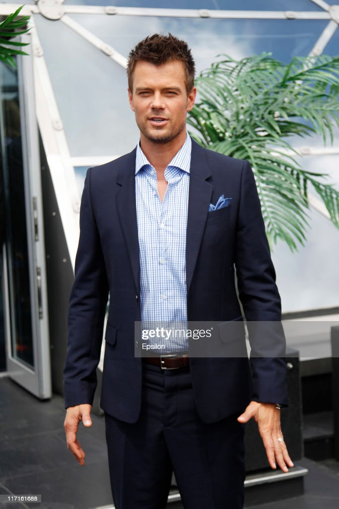 Josh Duhamel poses for a photocall before global premiere of 'Transformers 3' movie on the roof of the Ritz hotel on June 23, 2011 in Moscow, Russia.