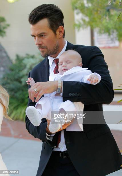 Josh Duhamel with son Axl Duhamel are seen on December 12 2013 in Los Angeles California