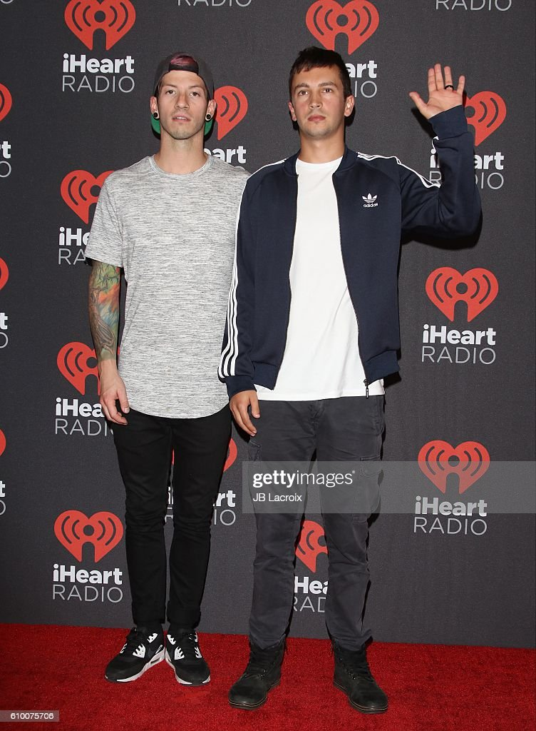 Josh Dun and Tyler Joseph attend the 2016 iHeartRadio Music Festival Night 1 at T-Mobile Arena on September 23, 2016 in Las Vegas, Nevada.