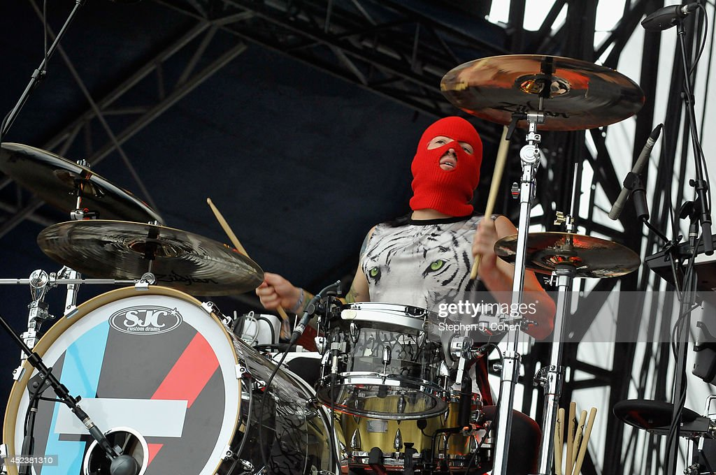 Josh Dun performs during the 2014 Forecastle Music Festival at Louisville Waterfront Park on July 18, 2014 in Louisville, Kentucky.