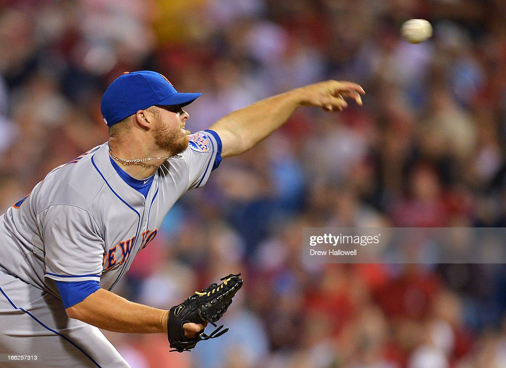 Josh Edgin #66 of the New York Mets delivers a pitch during the game against the Philadelphia Phillies at Citizens Bank Park on April 10, 2013 in Philadelphia, Pennsylvania.