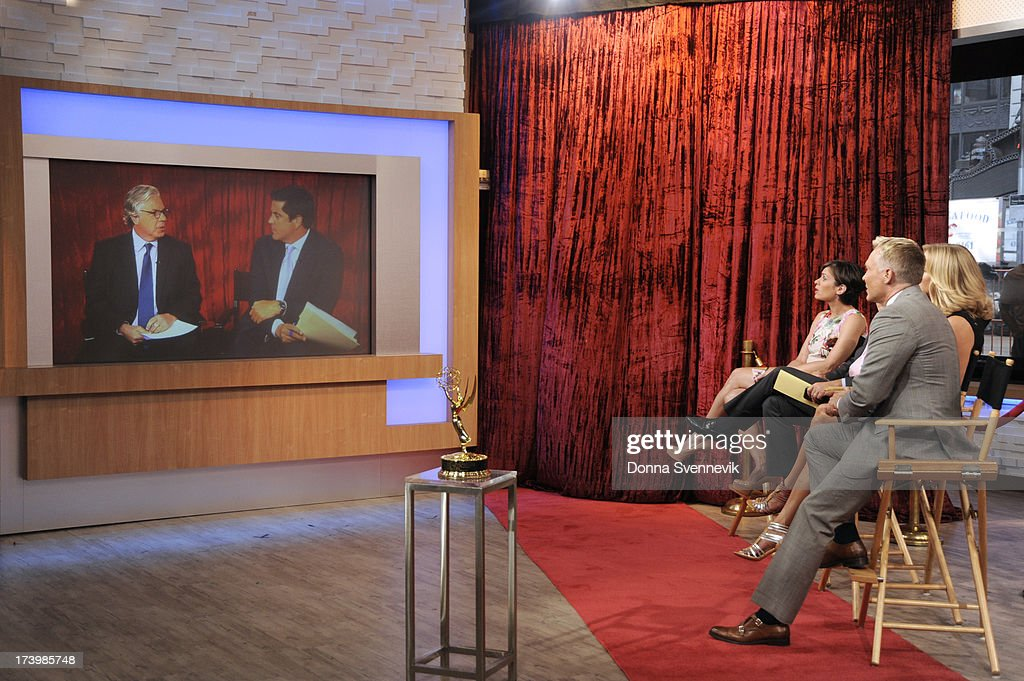 AMERICA - Josh Elliott talks with Chris Connelly discuss the Emmy nominations on 'Good Morning America,' 7/18/13, airing on the ABC Television Network. (Photo by Donna Svennevik/ABC via Getty Images) CHRIS