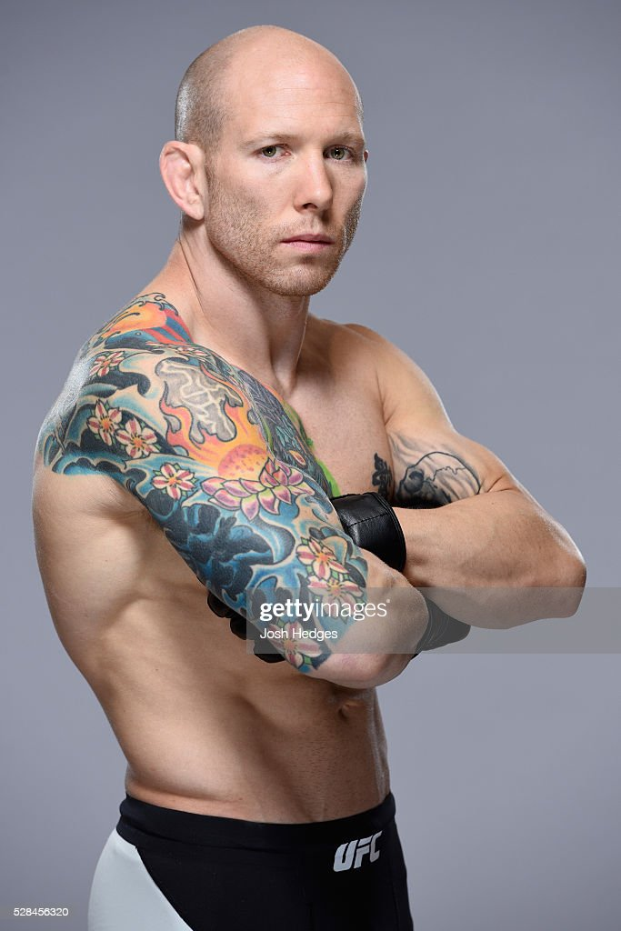 Josh Emmett poses for a portrait during a UFC photo session at the Mainport Hotel on May 5, 2016 in Rotterdam, Netherlands.