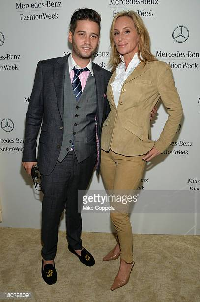 Josh Flagg and Sonja Morgan attends the MercedesBenz Star Lounge during MercedesBenz Fashion Week Spring 2014 on September 10 2013 in New York City
