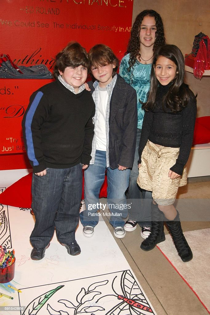 Josh Flitter Jonah Bobo Hallie Kate Eisenberg and Paulina Gerzon attend RxArt Coloring Book Launch at DKNY at DKNY on December 11 2005 in New York...