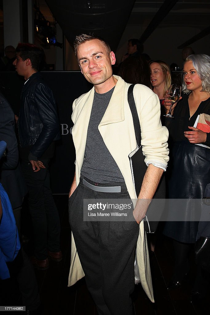 Josh Flynn at the MBFWA Trends show after party during Mercedes-Benz Fashion Festival Sydney 2013 at Sydney Town Hall on August 21, 2013 in Sydney, Australia.
