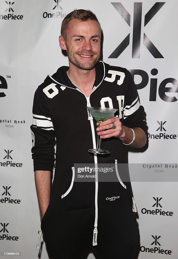 Josh Flynn poses during the OnePiece onsie Australian launch at the Bucket List at the Bondi Beach on July 19, 2013 in Sydney, Australia.