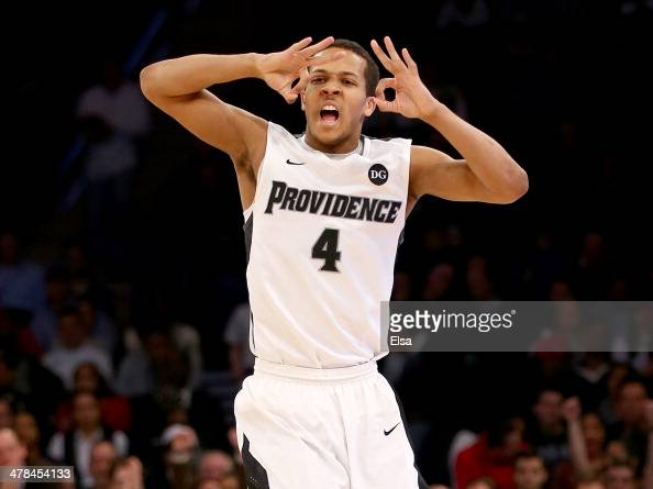 Josh Fortune of the Providence Friars celebrates his field goal in the second half against the St John's Red Storm during the quarterfinals of the...