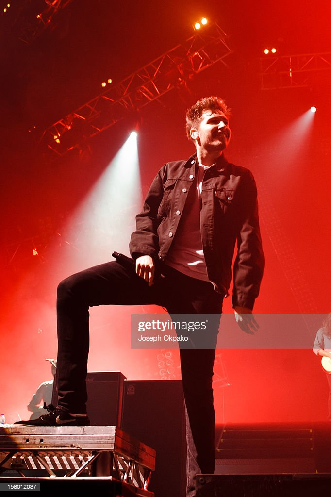 Josh Franceschi of You Me At Six performs at Wembley Arena on December 8, 2012 in London, England.