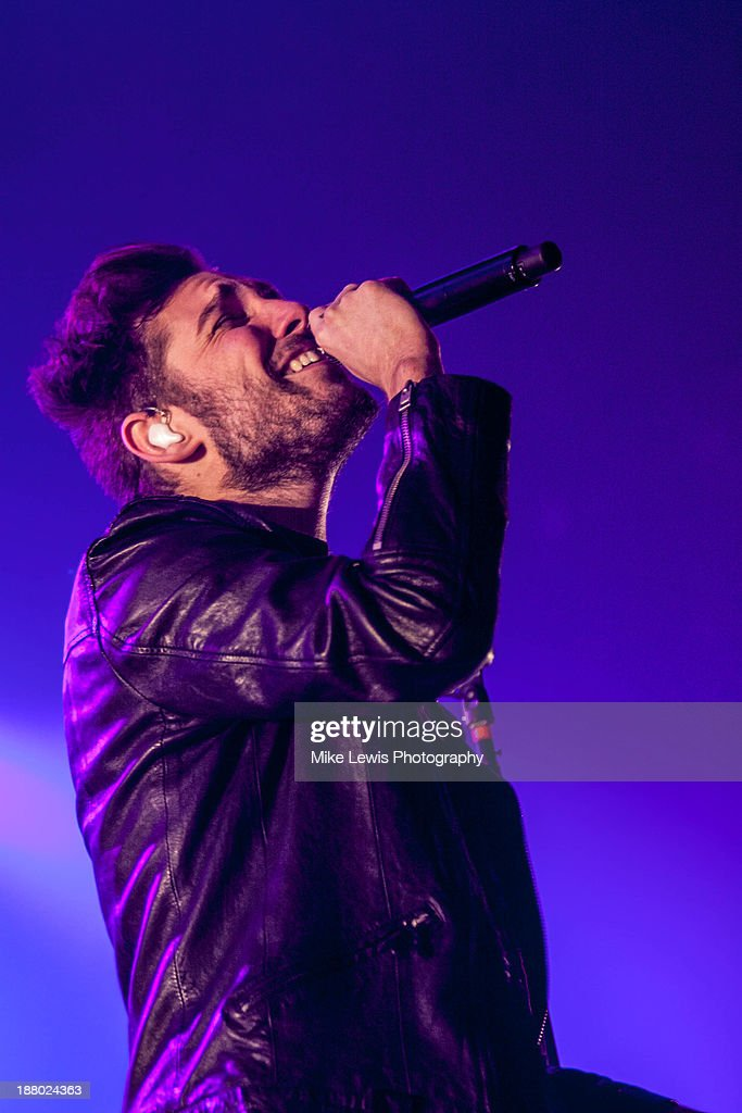 Josh Franceschi of You Me At Six performs live on stage at Motorpoint Arena on November 14, 2013 in Cardiff, United Kingdom.
