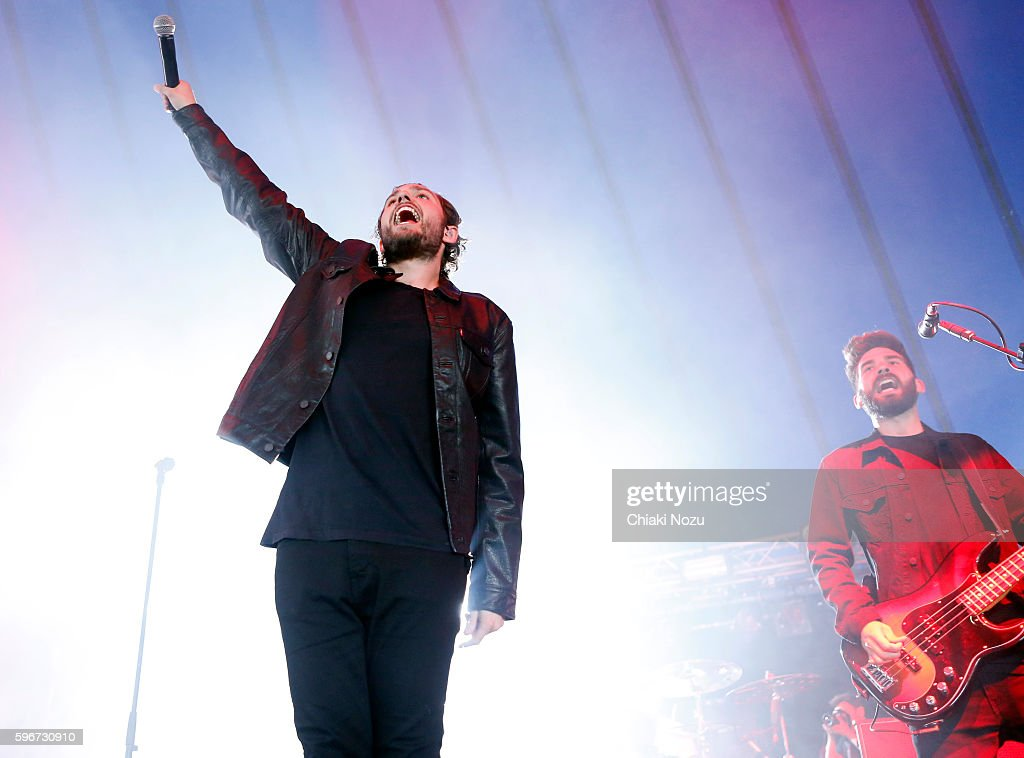 Josh Franceschi of You Me At Six performs on Day 2 of Reading Festival at Richfield Avenue on August 27, 2016 in Reading, England.