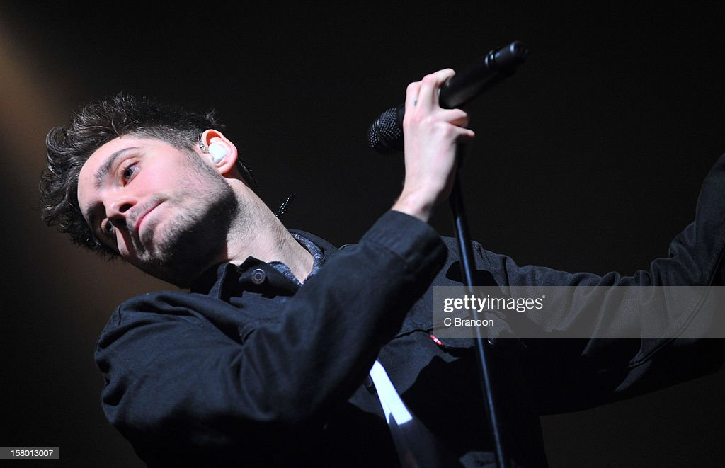 Josh Franceschi of You Me At Six performs on stage at Wembley Arena on December 8, 2012 in London, England.