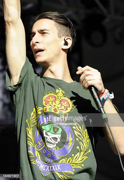 Josh Friend of Modestep performs as part of the 2012 Voodoo Music Experience at City Park on October 28 2012 in New Orleans Louisiana