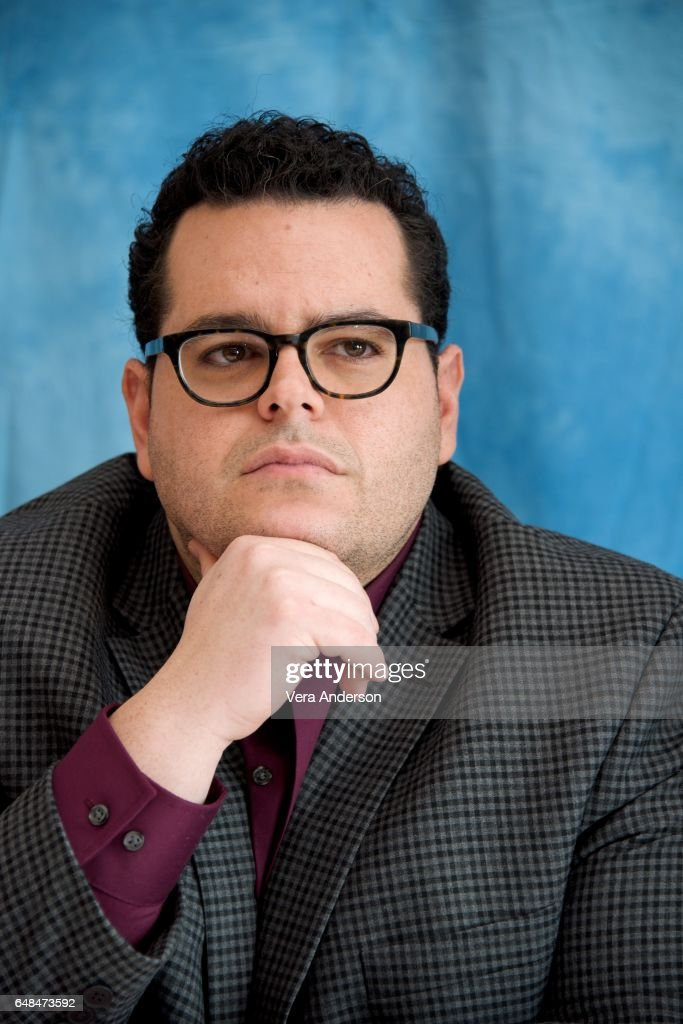 Josh Gad at the 'Beauty and the Beast' Press Conference at the Montage Hotel on March 5, 2017 in Beverly Hills, California.