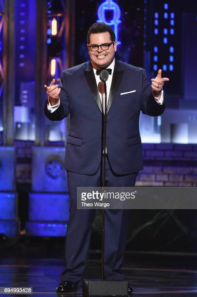 Josh Gad speaks onstage during the 2017 Tony Awards at Radio City Music Hall on June 11 2017 in New York City