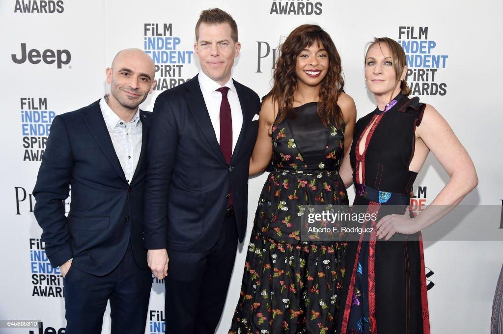 Josh Godfrey, producer Kevin J. Walsh, Kimberly Steward, and producer Lauren Beck attend the 2017 Film Independent Spirit Awards at the Santa Monica Pier on February 25, 2017 in Santa Monica, California.