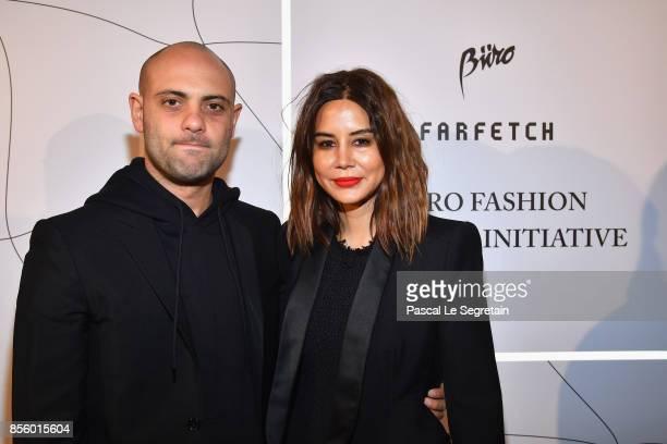 Josh Goot and Christine Centenera attend the Buro 24/7 X Farfetch Fashion Forward Initiative as part of the Paris Fashion Week Womenswear...