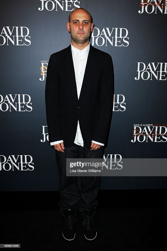 Josh Goot arrives at the David Jones A/W 2013 Season Launch at David Jones Castlereagh Street on February 6, 2013 in Sydney, Australia.