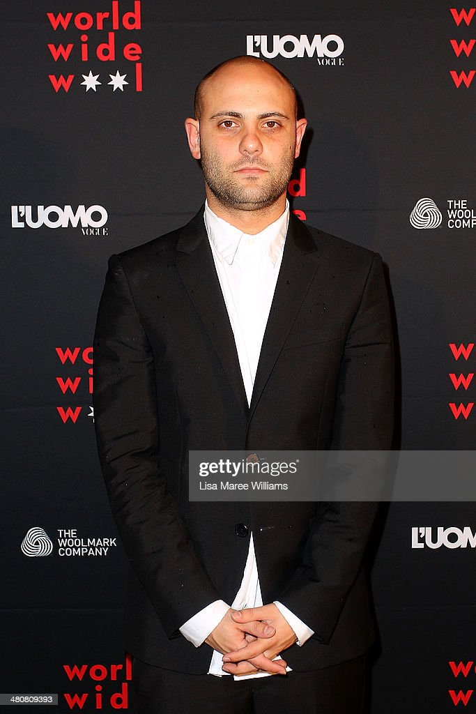 Josh Goot arrives at the L'Uomo Vogue and Woolmark Company Gala and Exhibition to celebrate L'Uomo Vogue magazine's March Issue dedicated to...