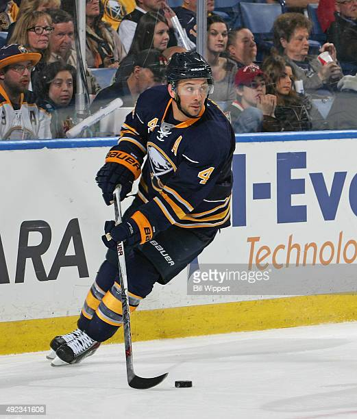 Josh Gorges of the Buffalo Sabres skates against the Ottawa Senators on October 8 2015 at the First Niagara Center in Buffalo New York