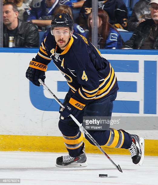 Josh Gorges of the Buffalo Sabres skates against the Vancouver Canucks in an NHL game on November 7 2015 at the First Niagara Center in Buffalo New...