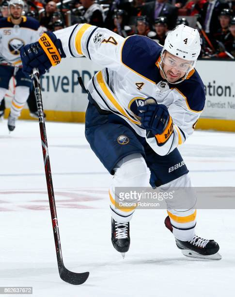 Josh Gorges of the Buffalo Sabres skates during the game against the Anaheim Ducks on October 15 2017 at Honda Center in Anaheim California