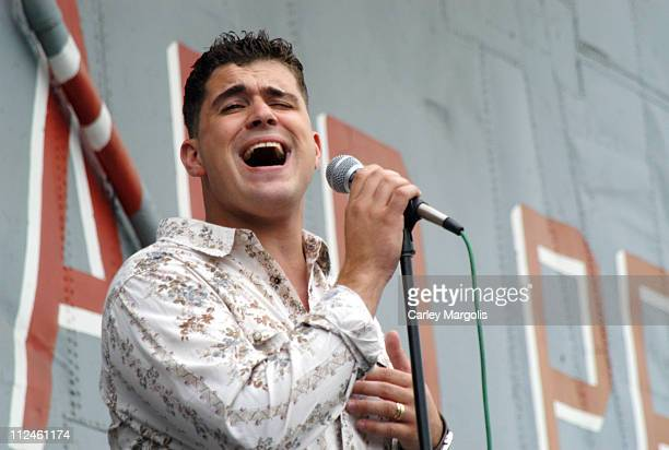 Josh Gracin during 'American Idol 2' Finalist Josh Gracin Performs a Special Military Salute Aboard the USS Intrepid at USS Intrepid in New York City...