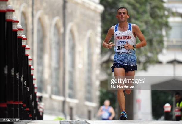 Josh Griffiths of Great Britain competes in the Men's Marathon during day three of the 16th IAAF World Athletics Championships London 2017 at The...