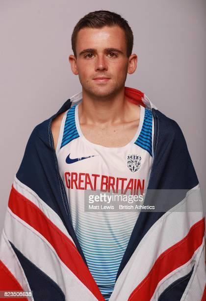 Josh Griffiths of the British Athletics team poses for a portrait during the British Athletics Team World Championships Preparation Camp July 27 2017...