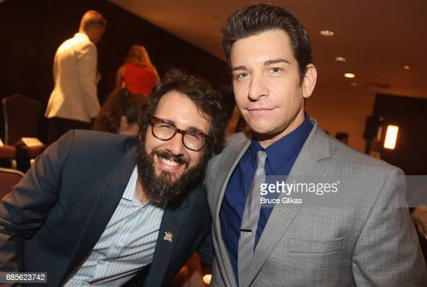 Josh Groban and Andy Karl pose at the 2017 Drama League Awards Luncheon at The Marriott Marquis Times Square on May 19 2017 in New York City