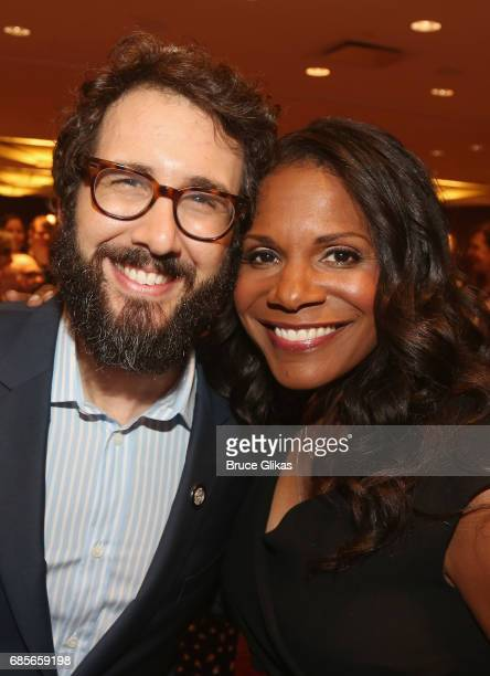 Josh Groban and Audra McDonald pose at the 2017 Drama League Awards Luncheon at The Marriott Marquis Times Square on May 19 2017 in New York City