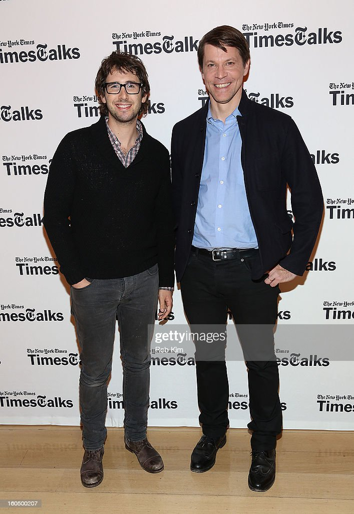 <a gi-track='captionPersonalityLinkClicked' href=/galleries/search?phrase=Josh+Groban&family=editorial&specificpeople=202917 ng-click='$event.stopPropagation()'>Josh Groban</a> (L) and Hugo Lindgren, editor of The New York Times Magazine, attend New York Times TimesTalks Presents: <a gi-track='captionPersonalityLinkClicked' href=/galleries/search?phrase=Josh+Groban&family=editorial&specificpeople=202917 ng-click='$event.stopPropagation()'>Josh Groban</a> at TheTimesCenter on February 1, 2013 in New York City.