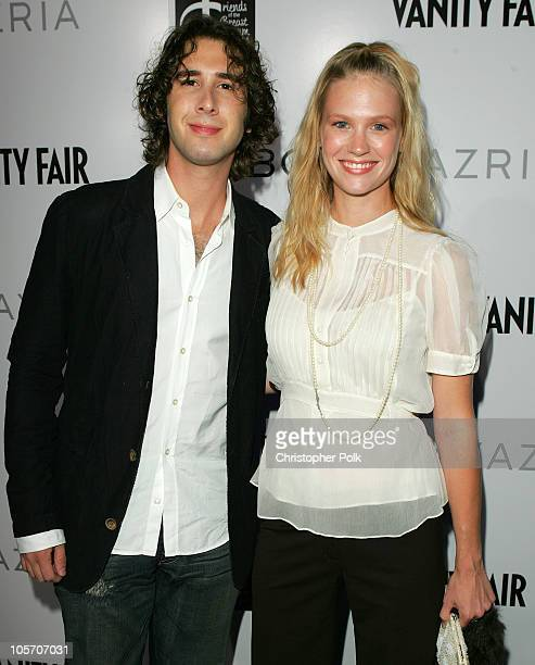 Josh Groban and January Jones during Opening Party for the BCBG Max Azria Flagship Store August 18 2005 at BCBG Max Azria flagship storeThe Regent...