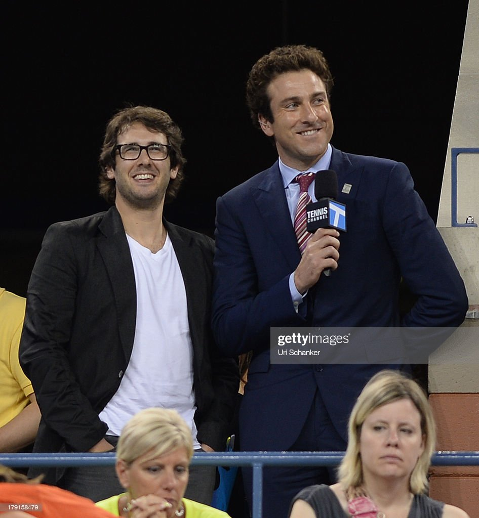 <a gi-track='captionPersonalityLinkClicked' href=/galleries/search?phrase=Josh+Groban&family=editorial&specificpeople=202917 ng-click='$event.stopPropagation()'>Josh Groban</a> and <a gi-track='captionPersonalityLinkClicked' href=/galleries/search?phrase=Justin+Gimelstob&family=editorial&specificpeople=214643 ng-click='$event.stopPropagation()'>Justin Gimelstob</a> attend the 2013 US Open at USTA Billie Jean King National Tennis Center on August 31, 2013 in New York City.