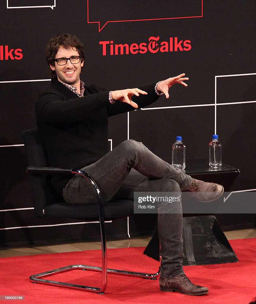 Josh Groban attends New York Times TimesTalks Presents: Josh Groban at TheTimesCenter on February 1, 2013 in New York City.
