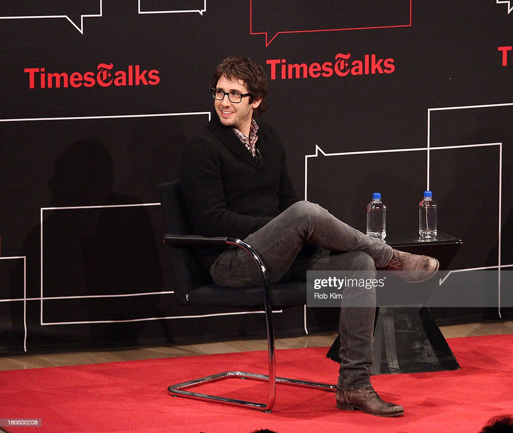 <a gi-track='captionPersonalityLinkClicked' href=/galleries/search?phrase=Josh+Groban&family=editorial&specificpeople=202917 ng-click='$event.stopPropagation()'>Josh Groban</a> attends New York Times TimesTalks Presents: <a gi-track='captionPersonalityLinkClicked' href=/galleries/search?phrase=Josh+Groban&family=editorial&specificpeople=202917 ng-click='$event.stopPropagation()'>Josh Groban</a> at TheTimesCenter on February 1, 2013 in New York City.
