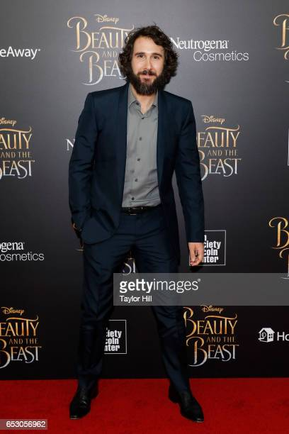 Josh Groban attends the 'Beauty and the Beast' New York screening at Alice Tully Hall Lincoln Center on March 13 2017 in New York City