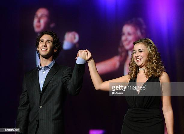 Josh Groban Charlotte Church during Andre Agassi's 6th Grand Slam for Children Fundraiser Show at MGM Grand Hotel in Las Vegas Nevada