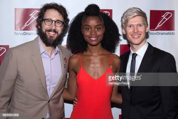 Josh Groban Denee Benton and Lucas Steele attend the 68th Annual New Dramatists Spring Luncheon at New York Marriott Marquis Hotel on May 16 2017 in...