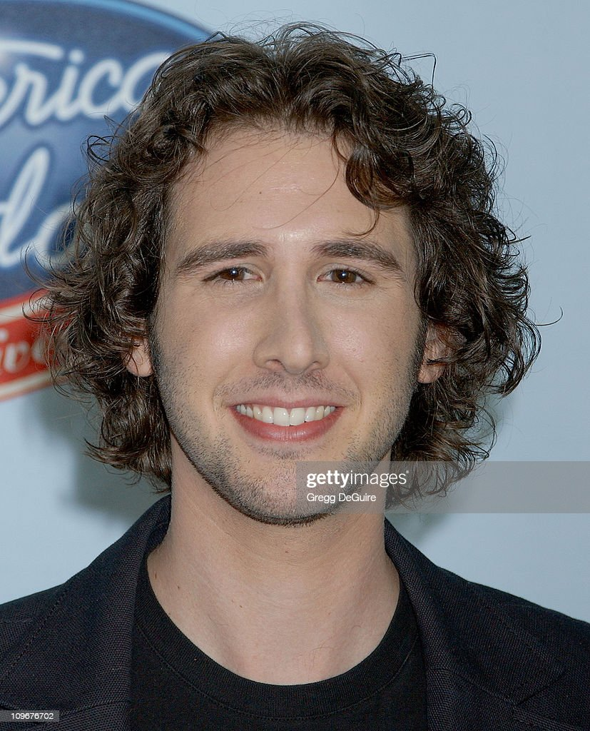 Josh Groban during 'American Idol' Gives Back - Photo Room at Walt Disney Concert Hall in Los Angeles, California, United States.
