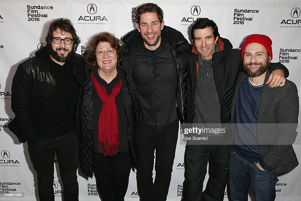 Josh Groban Margo Martindale John Krasinski Sharlto Copley and Charlie Day arrive to 'The Hollars' Premiere Party at The Acura Studio at Sundance...