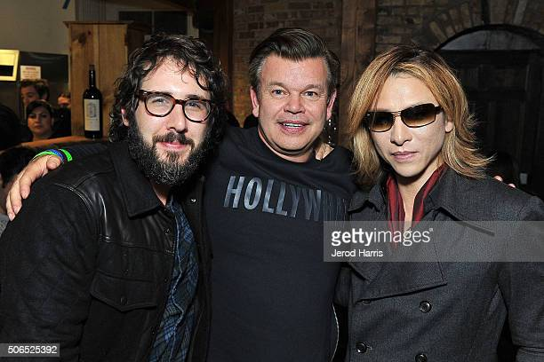 Josh Groban Paul Oakenfold and Yoshiki attend ChefDance Park City 2016 Presented by Velocity on January 23 2016 in Park City Utah