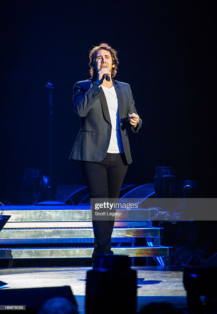 <a gi-track='captionPersonalityLinkClicked' href=/galleries/search?phrase=Josh+Groban&family=editorial&specificpeople=202917 ng-click='$event.stopPropagation()'>Josh Groban</a> performs at The Palace of Auburn Hills on October 23, 2013 in Auburn Hills, Michigan.