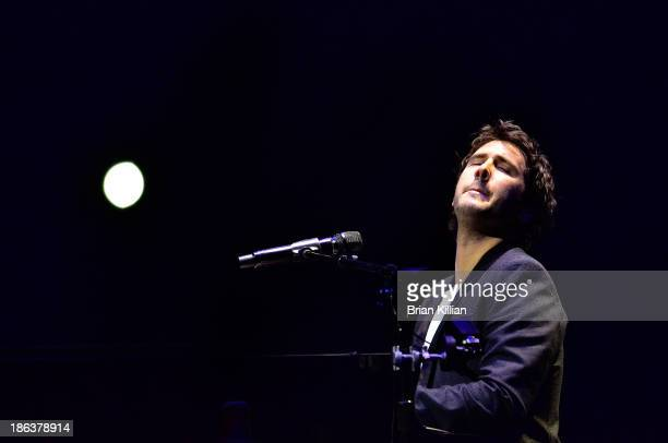 Josh Groban performs at the Prudential Center on October 30 2013 in Newark New Jersey