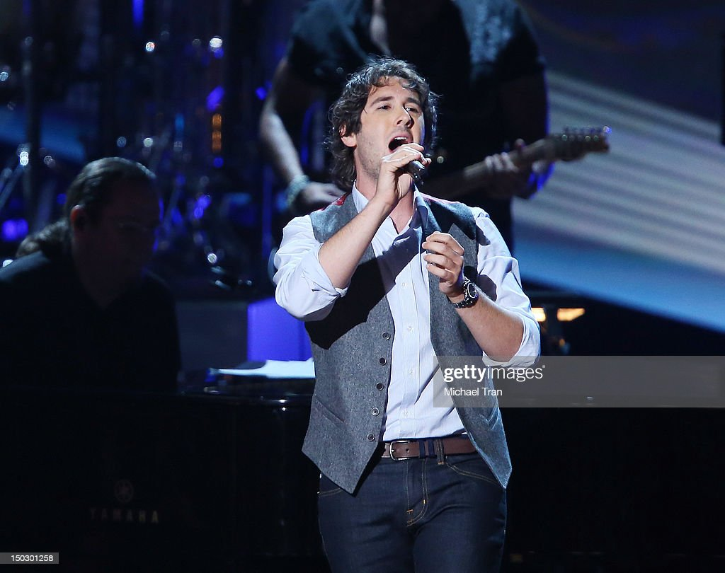 Josh Groban performs onstage at the 'Teachers Rock' benefit event held at Nokia Theatre L.A. Live on August 14, 2012 in Los Angeles, California.